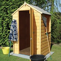 Shire Shiplap Timber Garden Store Brown - 4 x 4 ft
