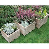 Forest Garden Kendal Square Planter Set of 3