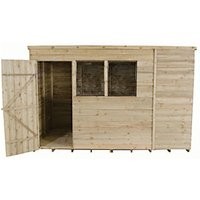 Forest Garden Pent Overlap Pressure Treated Shed - 10 x 6 ft