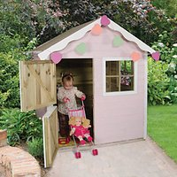 Forest Garden 4 x 4 ft Sage Wooden Childrens Playhouse with Stable Door