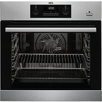 AEG Built-In Steam Bake Multifunction Single Pyrolytic Stainless Steel Electric Oven BPK351020M