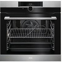 AEG Single Multifunction SenseCook Pyrolytic Stainless Steel Electric Oven BPK842720M