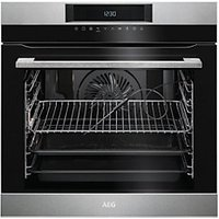 AEG Pyrolytic Single Multifunction Stainless Steel Electric Oven BPK642020M