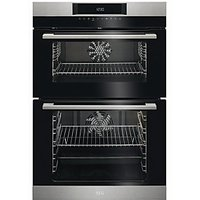 AEG Surround Cook Double Tower Stainless Steel Electric Oven DCK731110M