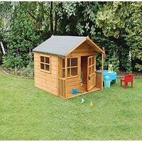 Rowlinson Playaway Lodge Childrens Wooden Playhouse with Veranda - 5 x 5 ft
