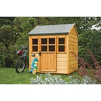 Rowlinson Little Lodge Childrens Wooden Playhouse - 4 x 4 ft