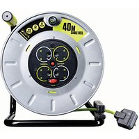Pro-xt 4 Socket 40m Large Metal Open Reel High Visibility Cable 13A