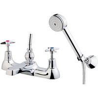 Wickes Trade Plus Bath Shower Mixer Tap - Chrome