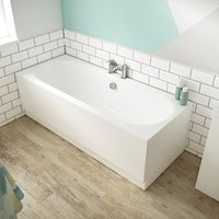 Wickes Forenza Double Ended Bath - 1800mm x 800mm