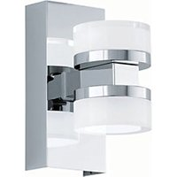 Eglo Romendo LED Polished Chrome & White Bathroom Wall Light - 2 x 4.5W