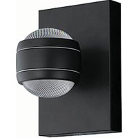Eglo Sesimba LED Black Outdoor Modern Up   Down Wall Light   2 x 3 7W