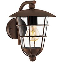 Eglo Pulfero 1 Brown Outdoor Traditional Up Lantern Wall Light   60W E27
