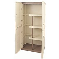 Click to view product details and reviews for Large Exterior Storage Cabinet With Shelves Broom Storage 390 X 700mm X 165m.