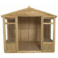 Forest Garden Oakley Double Door Summerhouse - 8 x 6 ft