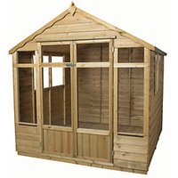 Forest Garden Oakley Double Door Summerhouse - 7 x 7 ft