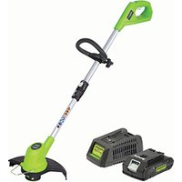 Greenworks G24LT30 Trimmer with 2AH Battery & Charger
