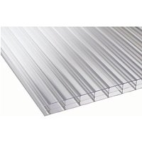16mm Clear Multiwall Polycarbonate Sheet - 2500 x 900mm