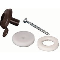 Click to view product details and reviews for 25mm Fixing Buttons Brown Pack Of 10.