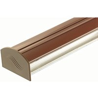 Click to view product details and reviews for Aluminium Glazing Bar Base And Pvc Cap Brown 4m.