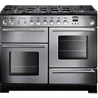 Rangemaster Infusion 110 Dual Fuel Range Cooker - Stainless Steel with Chrome Trim