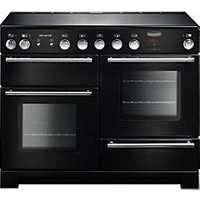 Rangemaster Infusion 110 Induction Range Cooker - Black with Chrome Trim