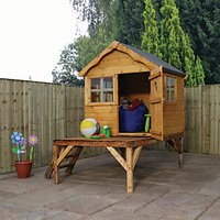 Mercia 6 x 5 ft Wooden Snug Playhouse with Tower with Assembly