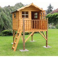 Mercia 7 x 5 ft Wooden Poppy Playhouse with Tower with Assembly