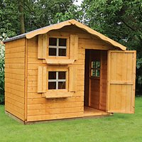 Mercia 7 x 5 ft Wooden Double Storey Playhouse with Assembly