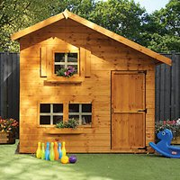 Mercia 8 x 6 ft Wooden Double Storey Playhouse with Assembly