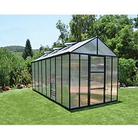 Palram Glory Anthracite Aluminium Frame Apex Greenhouse - 8 x 16 ft