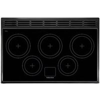 Rangemaster Classic Deluxe 90 Induction Range Cooker - White with Brass Trim