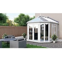 Euramax Victorian Glass Roof Full Glass Conservatory - 12 x 11 ft