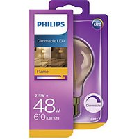 Philips LED Classic Filament Gold Dimmable Bulb - 7.5W B22