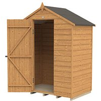 Forest Garden Apex Overlap Dip Treated Windowless Shed - 5 x 3 ft with Assembly