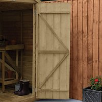 Forest Garden 8 x 6 ft Reverse Apex Overlap Pressure Treated Shed with Assembly