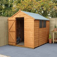 Forest Garden Apex Shiplap Dip Treated Shed - 6 x 8 ft with Assembly