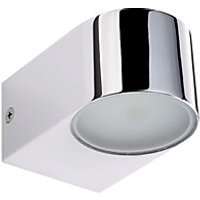 Wickes Madison Chrome LED Up and Down Wall Light - 8W
