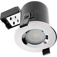 Wickes Fire Rated Chrome Shower Light Fitting with Warm White Cob LED - 5W GU10