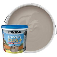 Ronseal Fence Life Plus Matt Shed and Fence Treatment - Warm Stone 5L