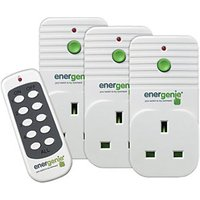 Energenie Remote Controlled Plugs - Pack of 3