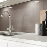 Click to view product details and reviews for Alusplash Splashback Latte 900 X 800mm.