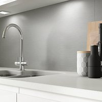 Click to view product details and reviews for Alusplash Splashback Silver Brushed 900 X 800mm.