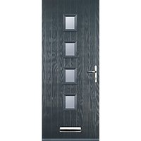 Euramax 4 Square Grey Left Hand Composite Door 880mm x 2100mm