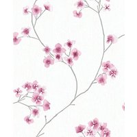 Graham & Brown Superfresco Easy Radiance Pink and White Decorative Wallpaper - 10m