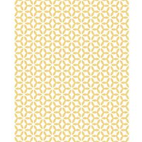 Graham & Brown Superfresco Easy Helice Geometric Design Yellow Decorative Wallpaper - 10m
