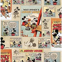 Disney Mickey Mouse Vintage Episode Multicoloured Decorative Wallpaper - 10m