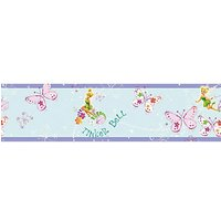 Graham & Brown Disney Tinkerbell Butterfly Multicoloured Decorative Border - 5m