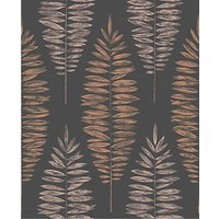 Graham & Brown Boutique Lucia Black/Copper Decorative Wallpaper - 10m