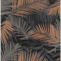 Graham & Brown Boutique Jungle Glam Black/Gold Decorative Wallpaper - 10m