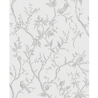 Superfresco Easy Laos Trail White/Silver Decorative Wallpaper - 10m